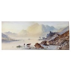 "Watercolor Painting of Scottish ""Loch Katrine"" by Francis Miles"