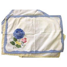 Antique Hand Stitched Placemats and Napkins