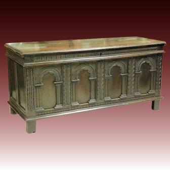 Arts & Crafts Renaissance Revival Style Coffer