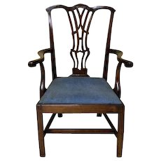 Chippendale StyleGeorge III period  Armchair in Mahogany, Marlborough Style legs
