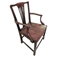 Georgian 18th Century English Provincial Country Chair