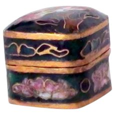 Tiny cloisonne hinged box
