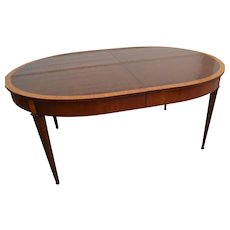 1930's Mahogany & Satinwood Dining Table