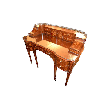 Magnificent 19th Century Carlton Desk with Extensive Inlay