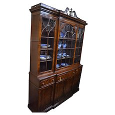 Chinese Chippendale Mahogany Breakfront