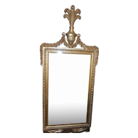 Large 19th Century French Gilt Wood Mirror