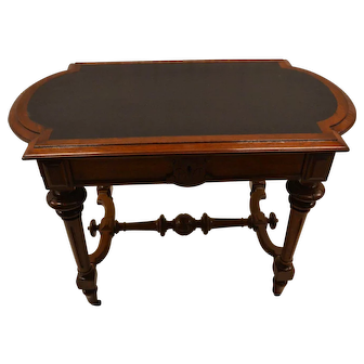 19th Century Victorian Renaissance Revival Library Table