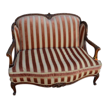 Turn-of-the-Century Carved French Settee