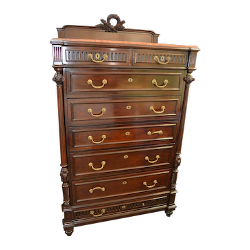 Rare 19th Century High Chest of Drawers
