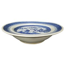 Canton Porcelain Export Hot Water Plate