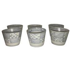 Canton Export Tea Bowls-Set of 6