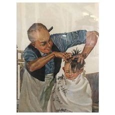 """""""Summer's Start"""" Norman Rockwell S/N Lithograph"""