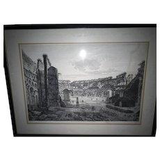 "Luigi Rossini (1790-1857) ""Flavian Amphitheater / Colosseum"""