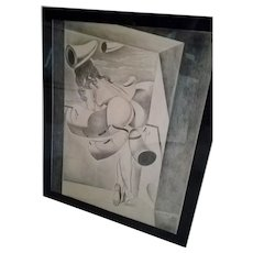 Salvidor Dali Original Pencil Drawing