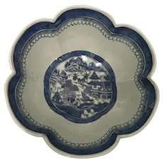 Canton Export Scalloped Rim Bowl