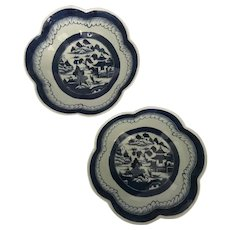 Canton Export PAIR Scalloped Rim Bowls