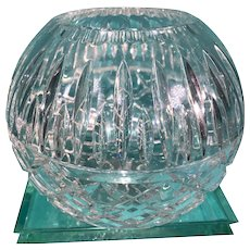 Vintage Crystal Rose Bowl
