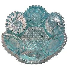 Vintage Cut Crystal Serving Bowl