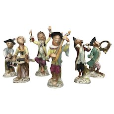 """Monkey Band"" Figurines 6 Pc. Set"