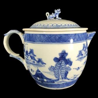 Antique 19th Century Canton Porcelain Tea pot