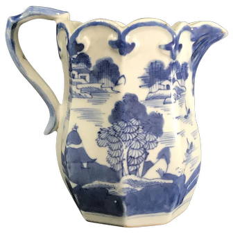 Antique 19th Century Chinese Canton Porcelain Pitcher