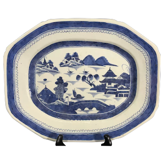 19th Century Canton Porcelain Platter