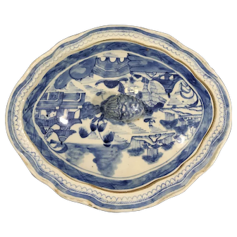 Antique 18th Century Canton Porcelain Tureen