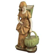 Amphora Riessner & Kessel Bohemian Art Pottery Harvest Planter