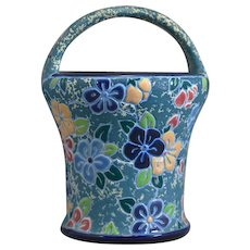 Amphora Works Riessner Basket Planter Enamel Glaze