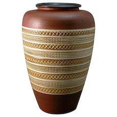 West German Dumler & Breiden Terra Series 154-30 Floor Vase 20th Century Mid-Century Modern
