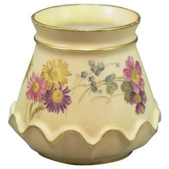 Royal Worcester Blush Ivory Conical Vase no 991 British Aesthetic