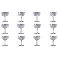 Boxed Set 12 - Waterford Kildare Champagne Glasses Goblets Irish Crystal NIB