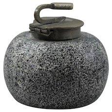 Inkwell Curling Rock Porcelain Desk Accessories