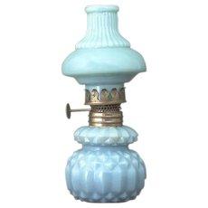 Leon's Ribbed Night Lamp Acorn Burner Plum & Atwood SI-177 c. 1890 American Oil Lamp