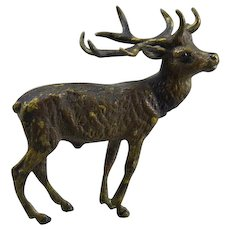 Vienna Bronze Miniature Reindeer Austrian Sculpture