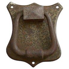 Arts & Crafts Door Knocker Hammered Steel