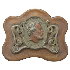 President Abraham Lincoln Memorial Wall Plaque