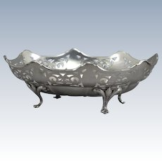 Basket Gourdel Vales & Co Sterling Silver Scalloped Pierced Footed