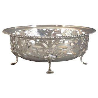 Birks Reticulated Sterling Silver Bowl Art Nouveau