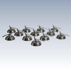 Birks Pheasant Menu Holders Set of 12