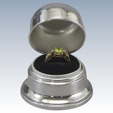 Birks Ring Box Silverplate Double B
