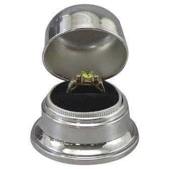 Birks Ring Box Silverplate Double B