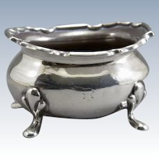 Open Cauldron Salt Cellar Sterling Silver Collingwood & Sons