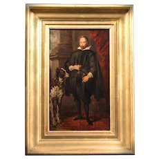 fine art Oil painting on paper after Sir Anthony Van Dyck 19th