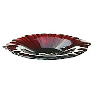 Anchor Hocking Old Cafe Royal Ruby Red Depression Glass Candy Dish