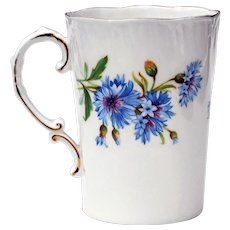 1960's Royal Adderley Cornflower Fine Bone China Cup Mug Made in England