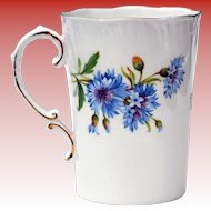 1960's Royal Adderley Cornflower Fine Bone China Cup Mug Made in England
