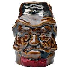 Vintage Lord Nelson Glazed Toby Jug Mug Old Gaffer