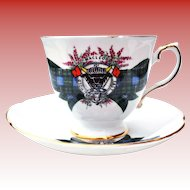 Royal Grafton MacLeod Hold Fast Scotland Clan Crest Cup & Saucer