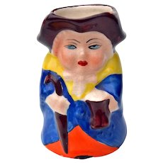 Vintage Miniature Toby Lady Holding Umbrella & Beer Mug